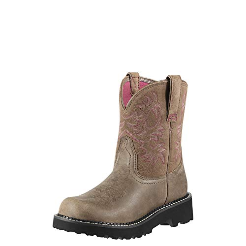 ARIAT Women's Fatbaby Western Boot Brown Bomber Size 7 C/Wide Us