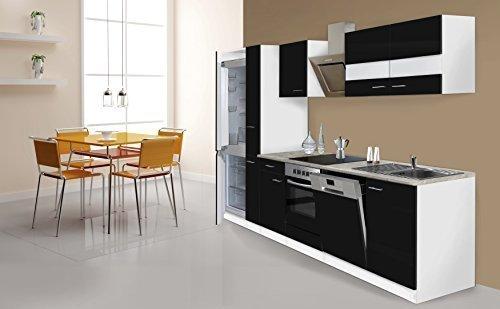 respekta Cocina 310cm Blanco Negro Carro de enfriamiento Tapa de diseño