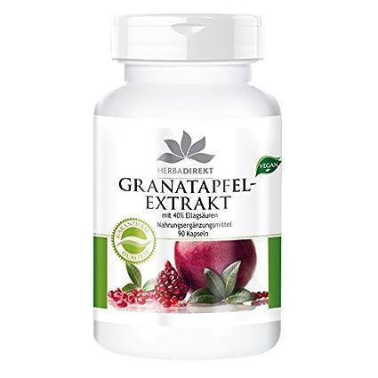 Extracto de granada con un 40% de ácido elágico - 90 comprimidos