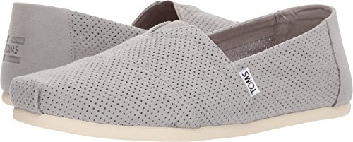 TOMS Men's Seasonal Classics Drizzle Grey Perforated Synthetic Suede 12 D US D ()