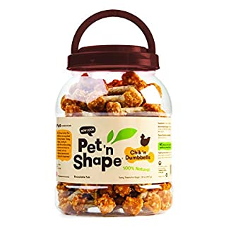 Pet 'n Shape Chik 'N Rice Dumbbells - All Natural Dog Treats, Chicken, 2 Lb