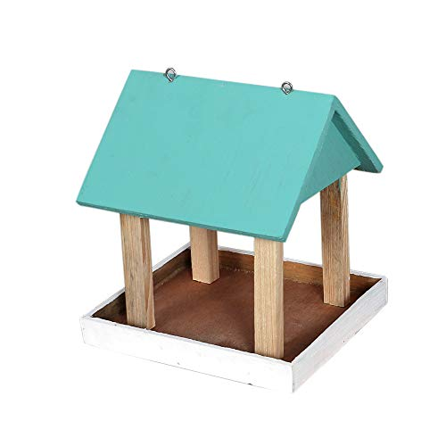 Paxidaya Hanging Wooden Bird Feeder for All Small Birds for Indoor and Outdoor Outside Both.