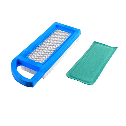 Podoy 697014 Air Filter Compatible with Briggs&Stratton Oregon Craftsman John Deere Lowes Accessory Replace 697153 697634 698083 795115 797008 Stens 102-875 Oregon 30-122