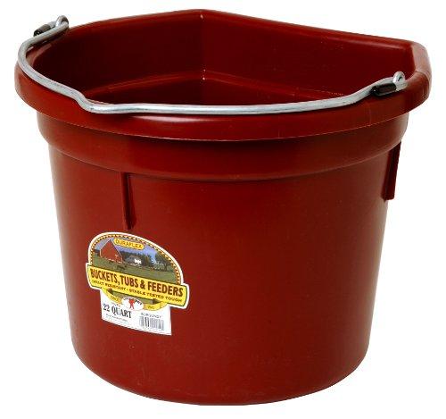 Burgundy Pail (Little Giant Flat-Back Dura-Flex Plastic Bucket, 22-Quart, Burgundy)