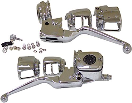 HARLEY CHROME HANDLEBAR CONTROL KIT - Fits Big Twin 1996/2006 & Sportster 1996/2003 (except models with radio controls or cruise control)