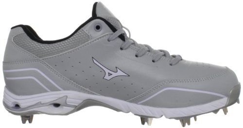 Mizuno Herren 9-Spike Advanced Classic 7 Baseball Cleat Grau weiß