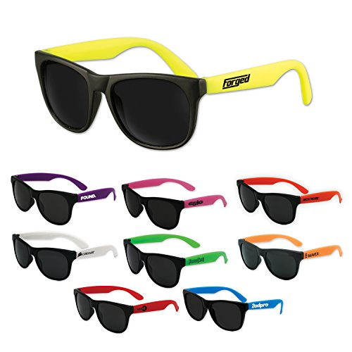 150 Personalized Premium Classic Sunglasses Printed with Your Logo or - Sunglasses Imprinted With Logo Promotional