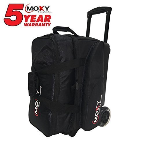 Moxy Blade Premium Double Roller Bowling Bag- Black by Moxy Bowling Products