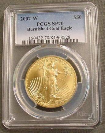 (2007 W Gold Eagle $50 SP70 PCGS)