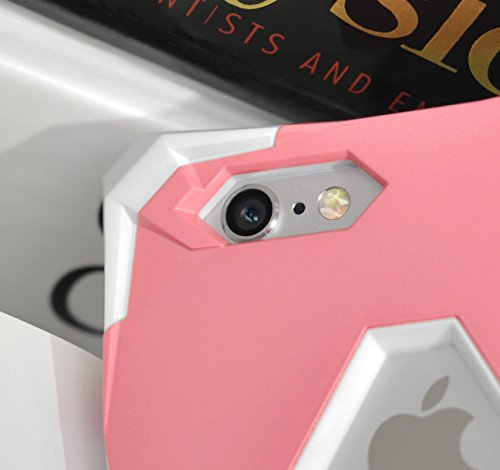 Zizo Abstract Dual Layered Case For iPhone 6 / 6s - Heavy Duty PC And TPU - SlimFit Metallic Protective Shock Proof Cover