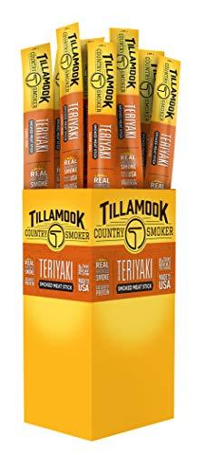 (Tillamook Country Smoker All Natural, Real Hardwood Smoked Snack Stick, Teriyaki 1.44-oz (Pack of 24))