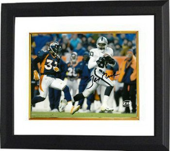 Jerry Rice Raiders Jersey (Athlon CTBL-BW17022 Jerry Rice Signed Oakland Raiders 8 x 10 Photo Custom Framed - White Jersey)
