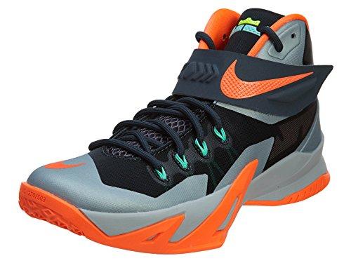 Basketballschuhe cerrada Soldier Hombre Nike James punta NIKE Viii Lebron Gris Zoom wqBxf4Sp