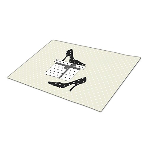 AbbyDay Monogrammed Door Mat Polka Dot Heels Polka Dot Pattern Polka Dotted Box Doormat Designs One size