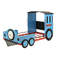 ACME Furniture Bed, Twin, Blue/Red & Black Train