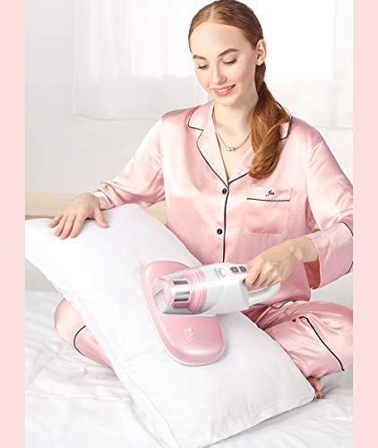 GOOCO Mini-nettoyants Éliminer Acariens,Aspirateur À Main pour Matelas,Domestiques avec Lumière Ultraviolette UV, pour Literie Et Coussins, Anti-acarien