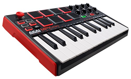 Akai Professional MPK Mini MKII | 25-Key Ultra-Portable USB MIDI Drum Pad & Keyboard Controller with Joystick, VIP Software Download Included