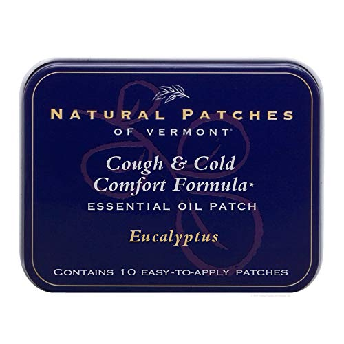 Natural Patches Of Vermont Eucalyptus Cough & Cold Comfort Essential Oil Body Patches, 10-Count Tins ()