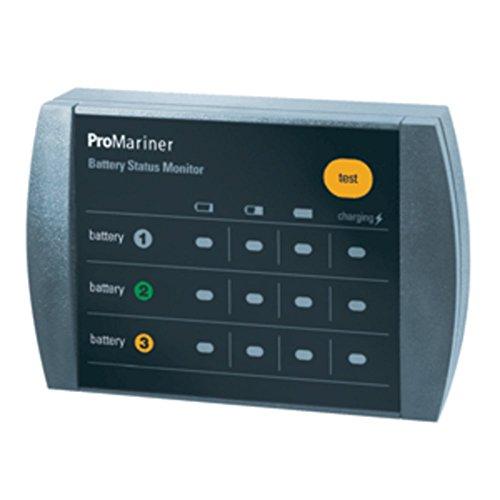 ProMariner 51060 Mite Sport Tournament Remote Battery Bank Status Monitor Marine RV Boating Accessories Bank Remote Battery Monitor