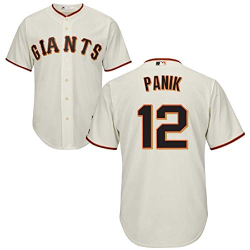 Outerstuff Joe Panik San Francisco Giants MLB Majestic Youth 8-20 Cream Ivory Home Cool Base Replica Jersey (Youth Small 8) ()