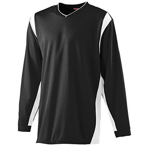 - Augusta Sportswear Men's Wicking Long Sleeve Warm-Up Shirt M Black/White