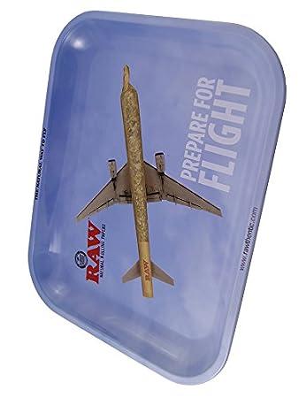 1 x RAW® Metall Rolling Tray Motiv RAW® Flying Drehtablett Drehunterlage