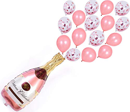 """Champagne Balloon Kit 40"""" Perfect for Party Decorations Rose Gold Balloons - Ideal Champagne Balloons for Parties"""