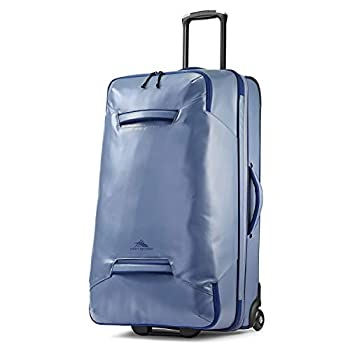 Image of Luggage High Sierra Rossby 30-inch Coated Upright Wheeled Luggage Suitcase - Rolling Upright Luggage for Travel - Large Multi-compartment Luggage Suitcase with Wheels, Grey Blue/True Navy