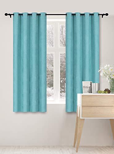 Curtainsville METERO - Blackout Faux Linen Curtain 2 Panels