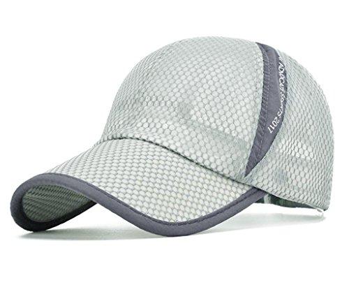 Golf Mesh Cap - CRYSULLY Summer Cap Flexfit Sports Caps Mesh Hat for Golf Cycling Running Fishing Outdoor Sun Hat Visor Light Grey ...