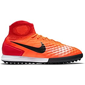 Nike Men's MagistaX Proximo II DF TF Turf Soccer Shoes (Total Crimson)