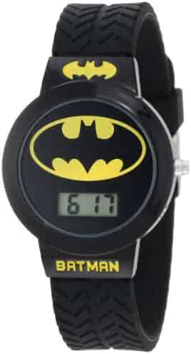 Batman Kids' BAT5041 Batman Watch with Black Rubber Band