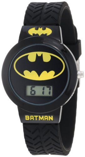 Batman Kids' BAT5041 Batman Watch with Black Rubber Band ()