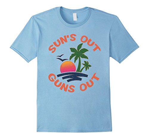 Mens Sun's out guns out  funny beach tee shirt Medium Bab...