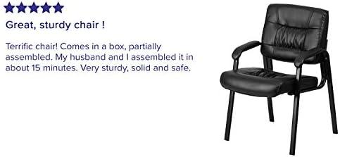 Amazon Com Flash Furniture Leather Side Chair Black Leathersoft Black Frame Furniture Decor