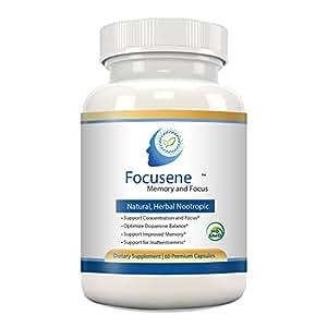 Focusene - Ayuda para la Memoria, Enfoque, Atención y Concentración - Mejora Natural del Cerebro, Suplemento Herbal Nootrópico - Acetil-L-Carnitina, DMAE, Forskolina, Extracto de Diente de León, B6, Extracto de Semilla de Uva, 60 cápsulas
