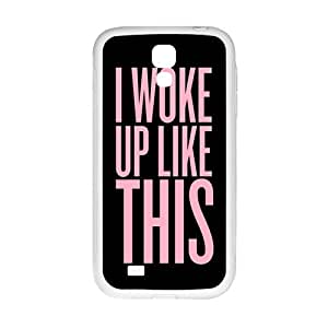 Pink Simple discourse Cell Phone Case for Samsung Galaxy S4