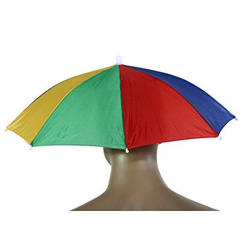 Chapeau-parapluie Broadroot portable - Parapluie et pare-soleil de 55cm - Idéal pour les activités en plein air, les festivals, le camping, la pêche et la randonnée