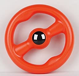 Large Floating Ring Flying Disc Floats on Water Tough Dog Chew Toy (Orange) by CYNJO