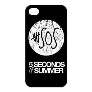 Fashion 5SOS Personalized iPhone 4 4S Rubber Gel Silicone Case Cover by icecream design