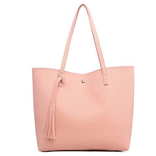 2018 New Fashion Europe And America Shoulder Bag Litchi Sutop Flow Pattern Pu Bag Large Capacity Bag Women 5