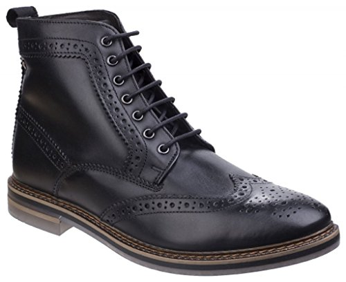 Black Hurst Mens Boots London Leather Base wAaXUq6