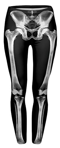 Fringoo - Leggings - para mujer Bones