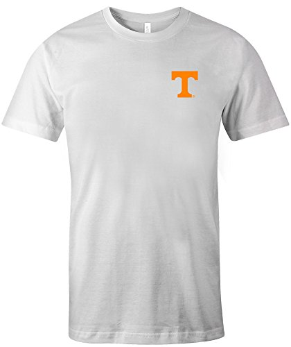 (NCAA Tennessee Volunteers Adult US Flag State Jersey Short sleeve T-Shirt, Small,White)