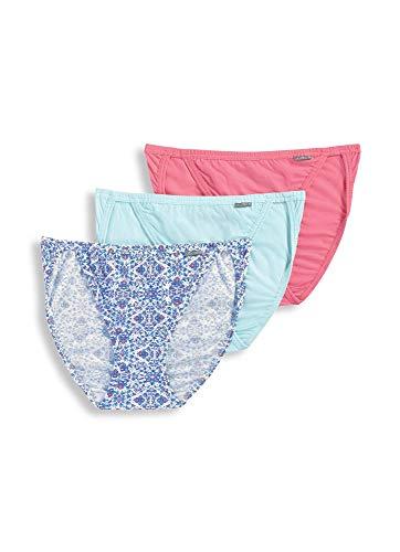 - Jockey Women's Underwear Elance String Bikini - 3 Pack, Sea Glass/Blooming Latice/Pink Grapefruit, 6