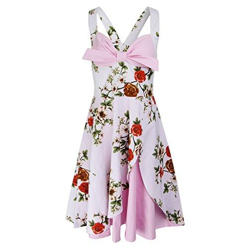 Costumi Da Rosa Chiaro Vintage Partito Gonna Balla Prettyia Donne Abito Morbido c53jq4ARL