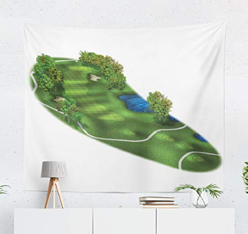 WAYATO Golf Course Wall Tapestry,Tapestry Wall ArtGolf Course Layout Three Dimensional Wall Tapestry for Bedroom Living Room Dorm Decor 60x50 Inches, Golf Course Layout