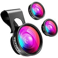 VicTsing Phone Camera Lens, 180° Fisheye Lens+0.65X Wide...