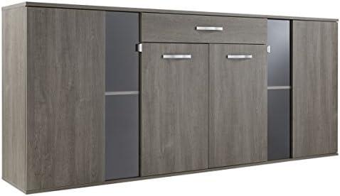 Demeyere 416750 Namur - Aparador con cajón y 2 Puertas, Panel de partículas de Roble, 206,2 x 41,7 x 93,4 cm: Amazon.es: Hogar