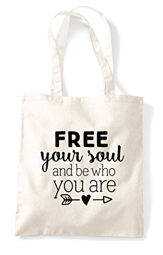 Who Bag Shopper Free Natural Tote And Be Your You Soul Are xz8Iqwg